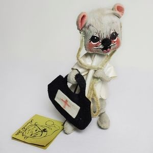 Vintage Annalee Dolls Doctor Mouse 1971 Doll